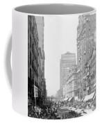 Looking Down State Street - Chicago - C  1897 Coffee Mug
