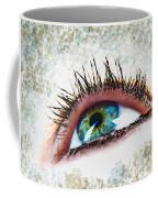 Looking Up Eye Art Coffee Mug