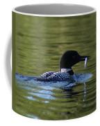 Loon With Minnow Coffee Mug