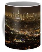 Los Angeles  City View At Night  Coffee Mug