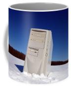 Lost Computer In Snow Coffee Mug
