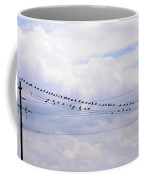 Lots Of Birds On Wires Coffee Mug