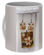 Lotus Flower Pendant And Earring Set Coffee Mug