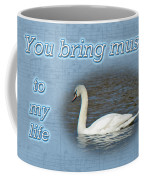 Love - I Love You Greeting Card - Mute Swan Coffee Mug