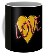 Love Gold And Red Coffee Mug