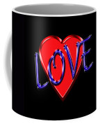 Love In Blue And Red Coffee Mug