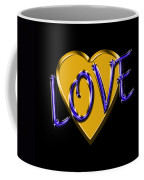 Love In Gold And Blue Coffee Mug