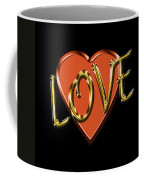 Love In Gold And Copper Coffee Mug