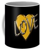 Love In Gold And Silver Coffee Mug