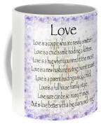 Love Poem In Purple  Coffee Mug