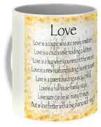 Love Poem In Yellow Coffee Mug