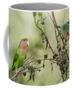 Lovebirds At Play  Coffee Mug