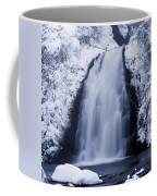 Low Angle View Of A Waterfall, Glenoe Coffee Mug