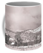Low Clouds On The Colorado Rocky Mountain Foothills 3 Bw Coffee Mug