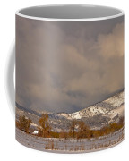 Low Winter Storm Clouds Colorado Rocky Mountain Foothills 2 Coffee Mug