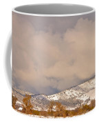 Low Winter Storm Clouds Colorado Rocky Mountain Foothills 4 Coffee Mug