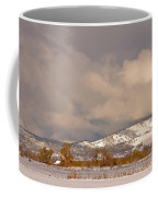 Low Winter Storm Clouds Colorado Rocky Mountain Foothills Coffee Mug