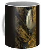 Lower Falls On The Yellowstone River Coffee Mug