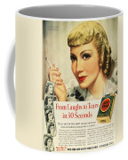 Luckys Cigarette Ad, 1938 Coffee Mug