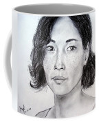 Lucy Liu Portrait Coffee Mug