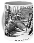 Lumbering: Saw, 1879 Coffee Mug