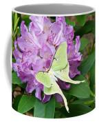 Luna Moth On Rhododendron 1 Coffee Mug