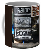 Lunch Time Between Fashion Ave And Gay Street Coffee Mug by Rob Hans