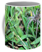 Lurking Spider In The Grass Coffee Mug