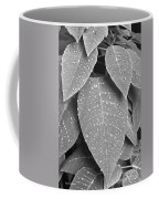 Lush Leaves And Water Drops 2 Bw Coffee Mug
