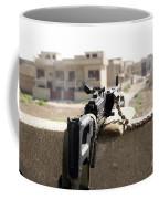 Machine Gun Post At A Prison Coffee Mug by Terry Moore