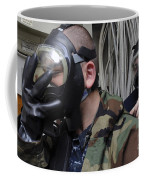 Machinist's Mate Helps Another Sailor Coffee Mug