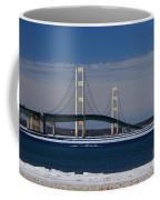 Mackinac Bridge In Winter 2 Coffee Mug
