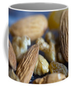 Macro Shots Of Various Dry Fruit Items Such As Almonds And Walnuts And Raisins Coffee Mug