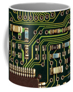 Macro View Of A Computer Motherboard Coffee Mug by Yali Shi