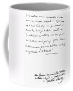 Madame De Stael Letter Coffee Mug