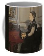 Madame Manet At The Piano Coffee Mug