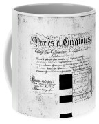 Madison: Diploma, 1772 Coffee Mug