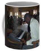 Madona Playing Piano In Nigerian Church Coffee Mug