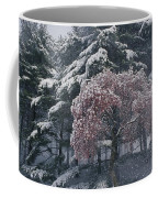 Magnolia Blossoms And Conifers Coffee Mug