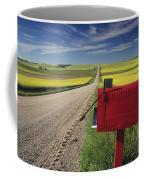 Mailbox On Country Road, Tiger Hills Coffee Mug