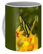 Malachite Butterfly On Flower Coffee Mug