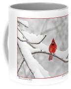 Male Cardinal In Snow Coffee Mug