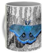 Male Moth Light Blue Coffee Mug