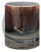 Mallard In Flight Coffee Mug