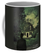Man In Front Of Cottage Coffee Mug