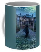 Man In Top Hat And Cape On Cobblestone Street Coffee Mug
