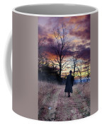 Man In Top Hat With Cane Walking Coffee Mug
