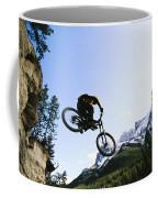 Man Jumping On His Mountain Bike Coffee Mug