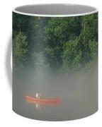 Man Paddling Canoe In Mist, Roanoke Coffee Mug