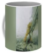 Man Reefing Mainsail In Heavy Weather Coffee Mug